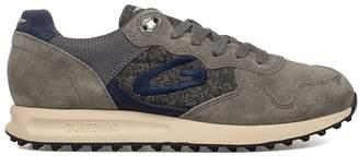 Alberto Guardiani Blue/bordeaux Sport Man Patwin Suede Sneakers