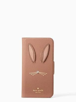Kate Spade Rabbit applique iphone x folio case