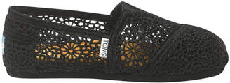 Toms Alpargata 001096B10 Black Morocco Crochet Sneaker