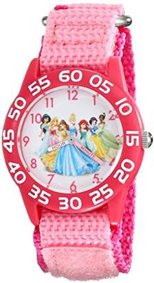 Disney Kids' W001990 Princess Time Teacher Watch With Nylon Band