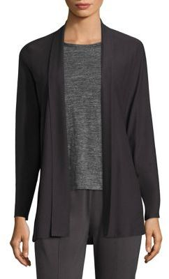 Eileen Fisher Shawl Collar Crepe Cardigan $198 thestylecure.com