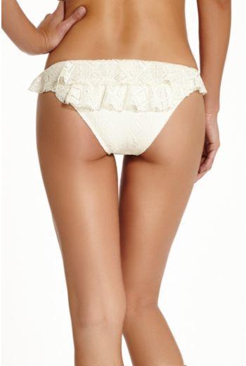 GUESS Flirty Little Secret Ruffle Retro Bikini Bottoms