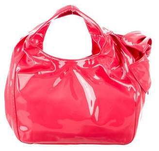 Valentino Patent Leather Nuage Bow Bag