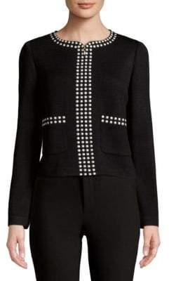 St. John Studded Full Zip Jacket