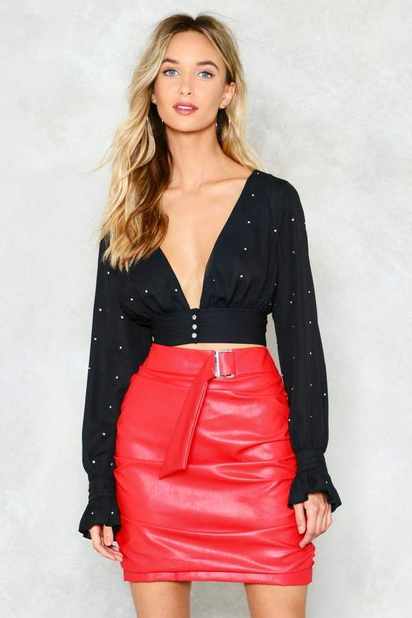 nastygal No Time to Waste Vegan Leather Skirt