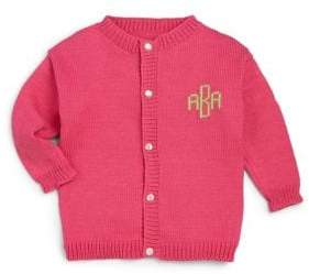 MJK Knits Baby's, Toddler's& Little Girl's Personalized Monogram Cardigan