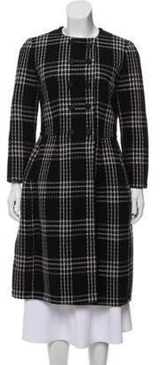 Dolce & Gabbana Shearling Lined Plaid Wool Coat w/ Tags