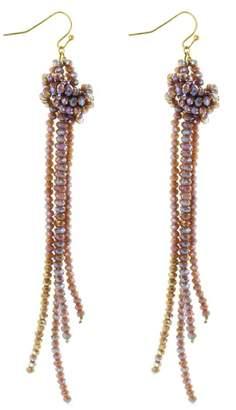 Panacea Crystal Knot Tassel Earrings
