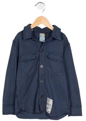 Ikks Boys' Embroidered Collared Shirt