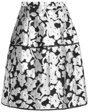 Oscar de la Renta Coated Jacquard Skirt