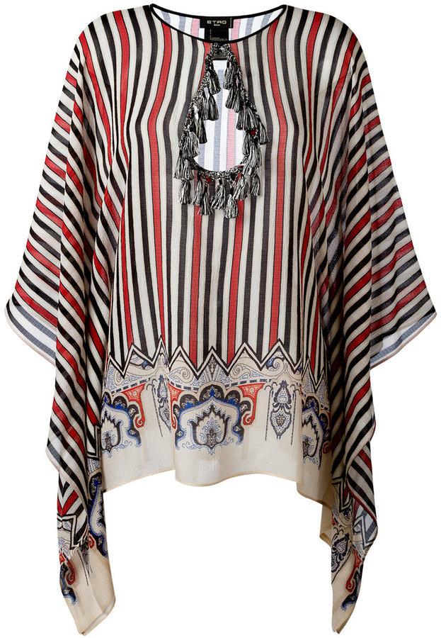 EtroEtro tassel embellished striped tunic