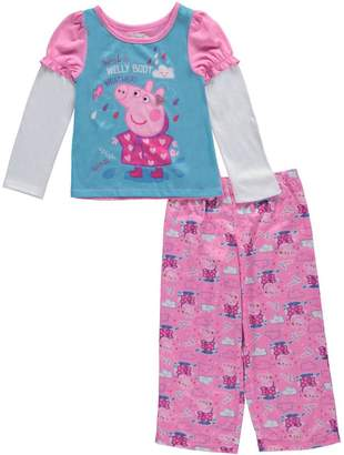 """Peppa Pig Little Girls' Toddler """"Flowers for Peppa"""" 2-Piece Pajamas"""