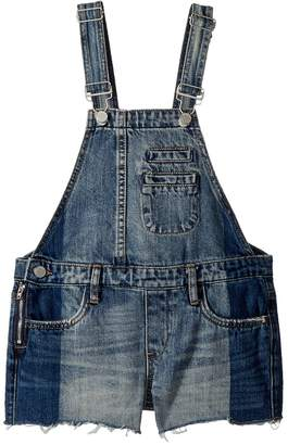 Blank NYC Kids Denim Overalls in Funny Bone Girl's Overalls One Piece