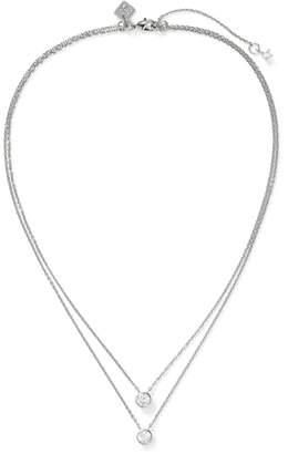 Banana Republic Embedded Stone Layer Pendant Necklace