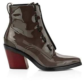 Rag & Bone Women's Ryder Zip-Up Patent Leather Boots