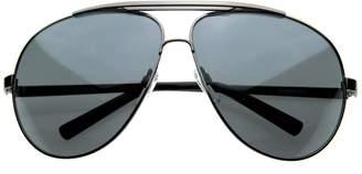 Zerouv Full Frame Big X-Large Oversized Metal Aviator Sunglasses