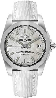 Breitling Galactic 36 Mother of Pearl Dial with Calfskin Leather Strap Women's Watch W7433012/A779-236X