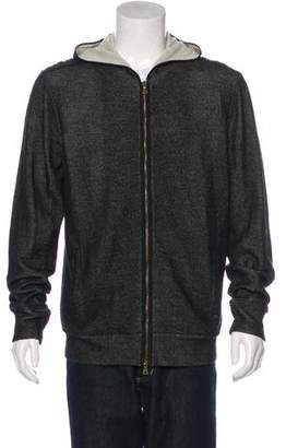 John Varvatos Wool-Blend Zip Sweater