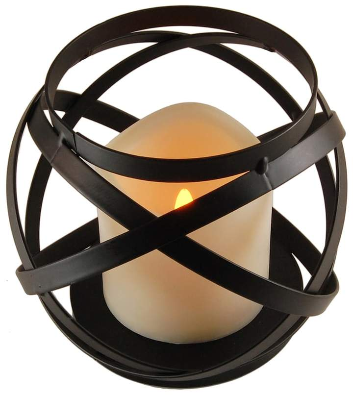 Lumabase LumaBase Woven Orb Lantern & LED Candle 2-piece Set
