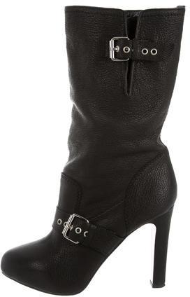 Christian Louboutin Christian Louboutin Leather Mid-Calf Boots