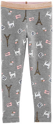Carter's Eiffel Tower Poodle Jersey Leggings - Baby Girls
