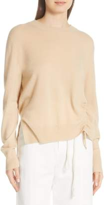 Vince Side Cinch Cashmere Crewneck Sweater