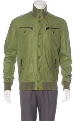 Bottega Veneta Leather Button-Up Jacket w/ Tags olive Leather Button-Up Jacket w/ Tags