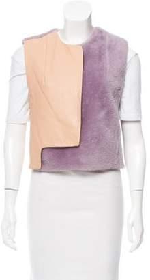 3.1 Phillip Lim Leather-Paneled Shearling Vest