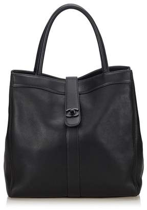 At Orchard Mile Chanel Vintage Leather Tote Bag