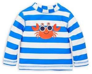 Little Me Baby Boy's Striped Rash Guard Shirt