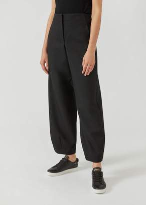 Emporio Armani Oversize Trousers In Virgin Wool