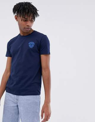 Esprit crew neck t-shirt with chest logo print in navy