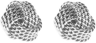 Reiss Our last order date for Christmas has now passed MAE EARRINGS KNOT DETAIL EARRINGS Silver