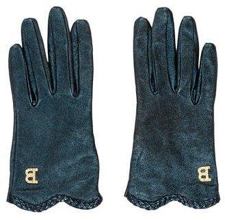 BlumarineBlumarine Metallic Logo Gloves