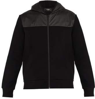 Fendi Logo Print Hooded Sweatshirt - Mens - Black