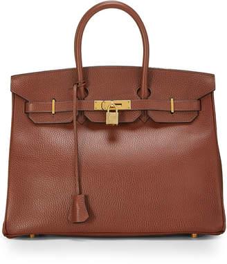 Hermes Vintage Birkin 35 Calfskin Satchel Bag, Brown