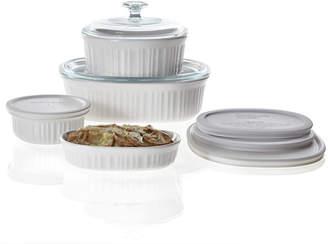 Corningware French White 10-pc. Casserole & Bakeware Set