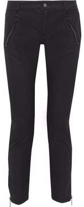 Belstaff Paneled Coated Mid-Rise Skinny Jeans