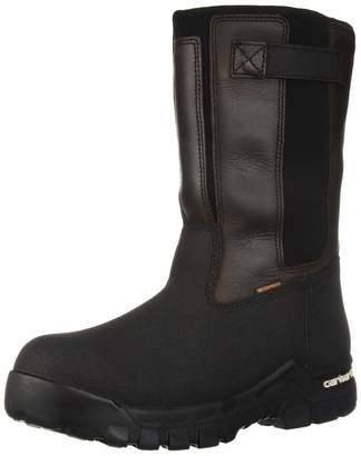 Carhartt Men's CSA 10-inch Rugged Flex Wtprf Isulated Work Pull-On Comp Safety Toe CMR1999 Industrial Boot Brown oiltan/Black Coated 8 W US