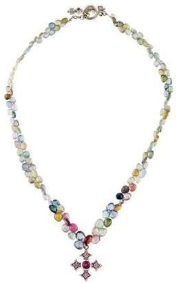 Loree Rodkin 18K Sapphire & Diamond Bead Strand Necklace
