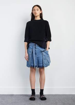 Sacai Denim Short L/Blue
