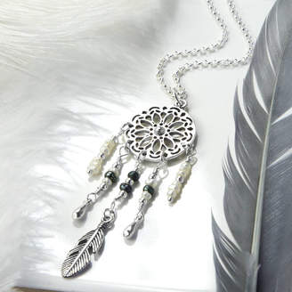 fc6750cce79ba9 Martha Jackson Sterling Silver Sterling Silver And Pearl Dream Catcher  Necklace