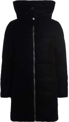 Michael Kors Black Goose Down Coat With Hood.