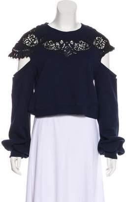 Jonathan Simkhai Embroidered Long Sleeve Sweatshirt