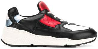 A.F.Vandevorst panelled colour block sneakers