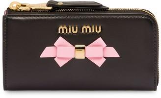 Miu Miu contrast bow keychain