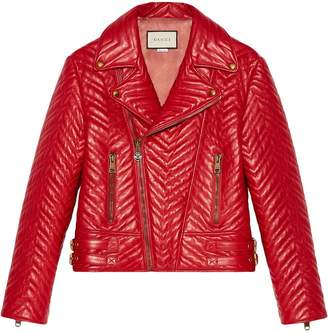 Gucci Quilted leather biker jacket