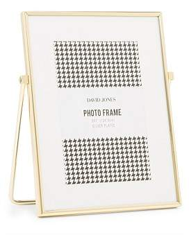 David Jones Easel 5 x 7 Brass Plated Metal Photo Frame