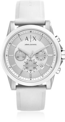Armani Exchange Outerbanks White Silicone Men's Chronograph Watch