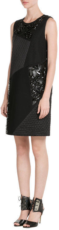 DKNY DKNY Patchwork Dress with Sequins and Bead Embellishment